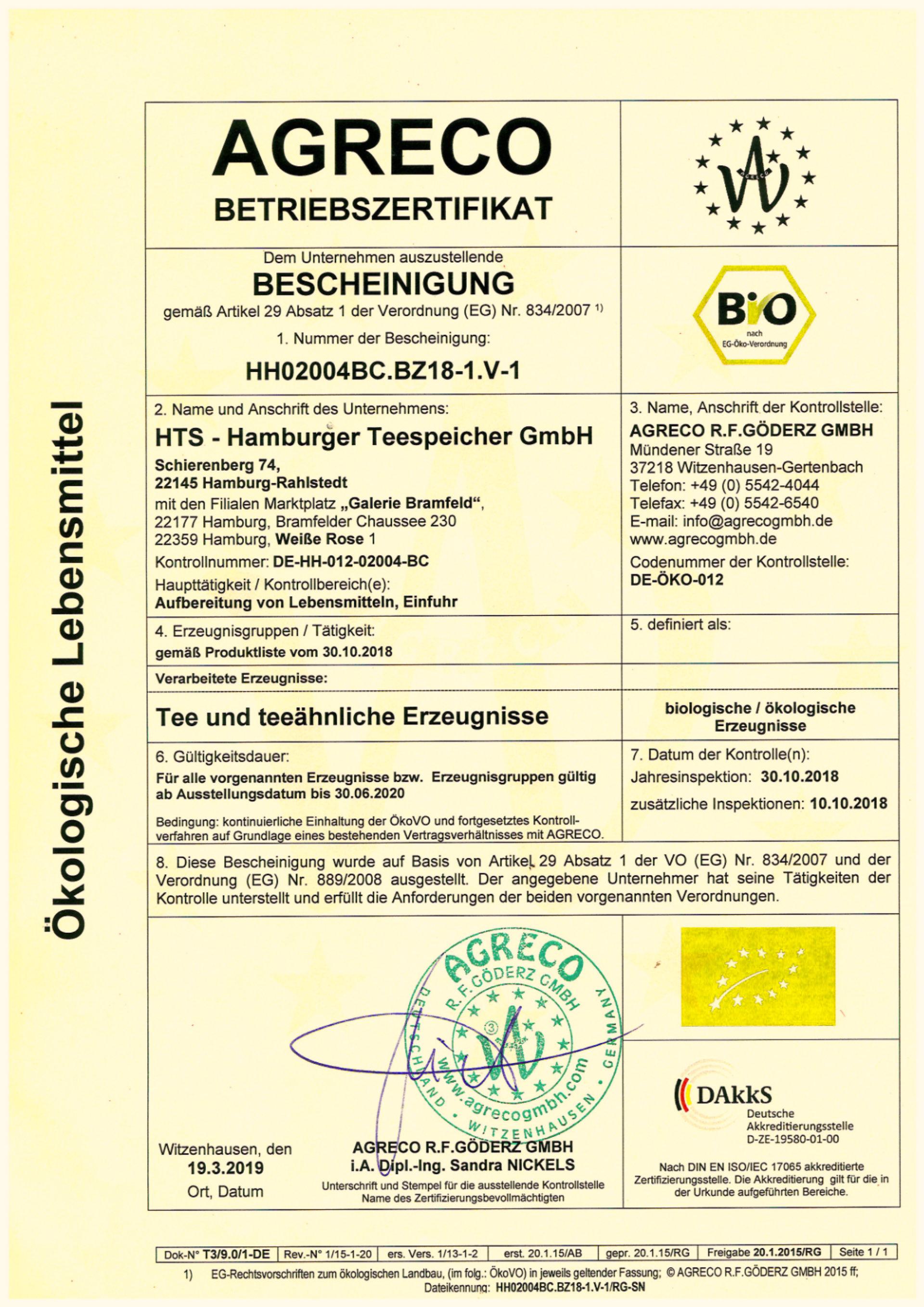AGRECO_Zertifikat_2019